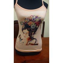 Remeras Modal Mujer Sublimadas  Estampadas
