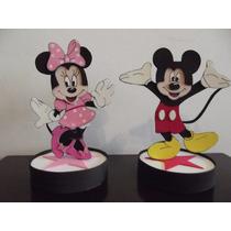 Centros De Mesa Mickey Y Minnie En Goma Eva Min 5u