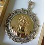 Medalla Antigua De Cristo En Plata Y Oro - Divino Rostro