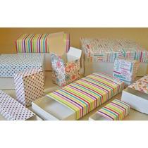 80 Cajas Estampadas Souvenir Regalos Diseños 13x10x5 -d742