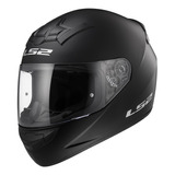 Casco Integral Moto Ls2 352 Rookie Solid Negro Mate