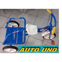 Triciclo Infantil A Pedal Romano. Unico P/ Dos Nenes.caseros