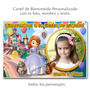 Princesita Sofia - Cartel De Bienvenida Cumpleaños Con Foto