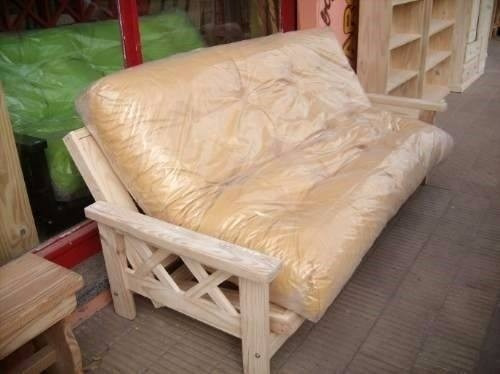 Futon cama 3 cuerpos 2 plazas pino macizo 1600 ffifj for Futon cama de una plaza
