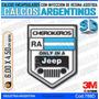 Calcomanias 3d Con Relieve, Accesorio Autos Jeep Cherokeros