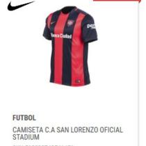 Camisetas Clubes de Primera Adultos San Lorenzo 2016 con los mejores ... 1087ef910026e
