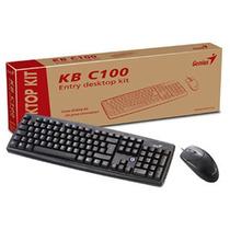 Kit Teclado Y Mouse Optico Genius Ps/2 Kb-c100