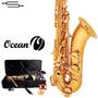 Saxo Tenor Ocean Saxofon Estudio Estuche + Accesorios Envios