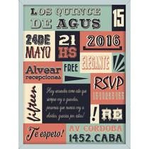 Invitaciones Para Fiesta 15 Años Tarjetas Quince Con Sobre