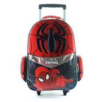 Mochila Escolar Spiderman 3d Con Carro 18 Pulgadas Marvel