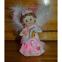 Angel Luminoso Para Souvenir 12,5cm Bautismo Comunion Color