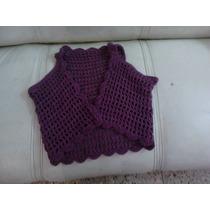 Bolero De Lana Tejida En Crochet