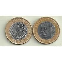 Moneda Brasil 1 Real Año 2002 Bimetalica 100 Años Kubitschek