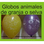 Globos Animales Selva Granja Dinosaurio Jardin X10 Cumple
