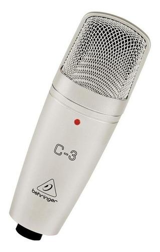 Micrófono Behringer C-3 Condensador Plateado