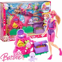 Muneca Barbie Ocean Treasure Explore Original De Mattel.