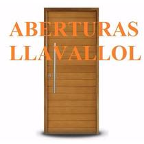 Aberturas Oblak Puerta Exterior Madera Grandis 2331 80x200