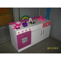 Muebles Cocina Mesada Juego Infantil Casita Madera Juguete
