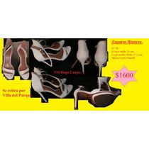 Zapatos Blancos. Nº 39. (marca Carla Danelli)