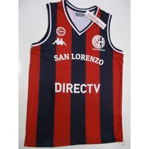 Camiseta San Lorenzo Basquet Kappa Oficial Lavalledeportes