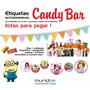 Etiquetas Para Golosinas Personalizadas Candy Bar Zona Norte