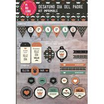 Kit Imprimible Desayuno Día Del Padre