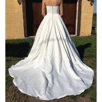 Vestido De Novia Largo Bordado Paloma Blanca Importado!