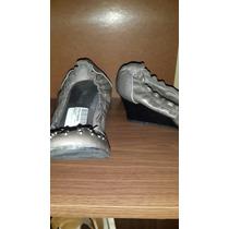 Zapatos Prune Gris Tachas Taco Chino 38 Cuero