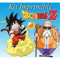 Kit Imprimible Dragon Ball Z Invitaciones Editables, Tarjeta