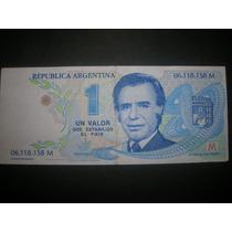Billete Publicidad Menem 1989/1995 Miralo!!!