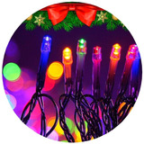 Luces Led 100 Lamparas 8 Metros Colores 220v Navidad