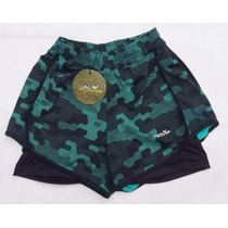 Short Estampado Con Calzas Ideal Correr, Futbol, Dual Power