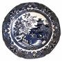 Antiguo Plato De Porcelana Inglesa Marca Willow 21 Cm.
