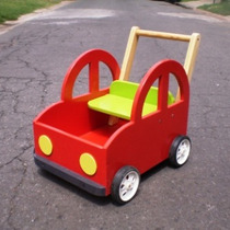 Andador Caminador Auto Rojo De Madera Didactico