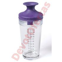 Coctelera De Vidrio Con Filtro Tapa Silicona Shaker Vacuvin