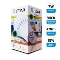 Lámpara Foco Bulbo Led 7w Luz Cálida 3000k Bajo Consumo E27