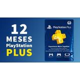 Tarjeta   Psn Plus 12 Meses / 1 Año - Usa - Codigo Digital