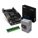 Combo Actualización Pc Micro Amd A4 6300 + Mother A68 + 4gb
