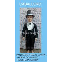 Disfraz Patrio Caballero Yabot Con Galera Acto 25 De Mayo