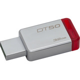 Pendrive Kingston Datatraveler 50 32gb Plateado/rojo
