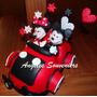 Adorno Auto Minnie Mickey