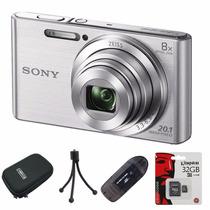 Sony W830 Reemp. W730 20.1mp Hd+ Lector+ 32gb+ Funda+ Trip!!
