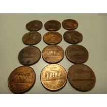 Lote De 12 Monedas 1 Centavo Usa
