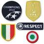 Parches Inter Campeon 2010 Uefachampions Copa Italia-respect