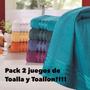 Oferta!! 2 Juegos Toalla Y Toallon Santista - 100 % Algodón