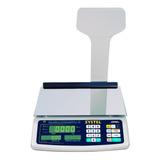 Balanza Comercial Digital Systel Croma 31 Kg Con Mástil 110v/220v Blanco