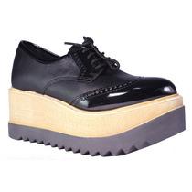 b2bc853d Zapatos Mujer Plataforma Charol Acordonados Moda Verano Tops en ...