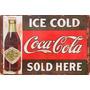 Cuadros Antiguos En Chapa Gruesa 20x30cm Coca Cola Dr-001