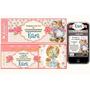 Kit Imprimible Sarah Kay: Invitaciones, Candy, Deco, Torta
