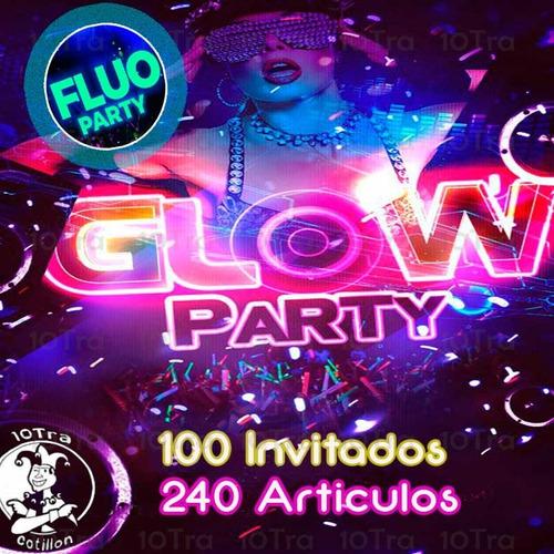 Combo Cotillón Luminoso Led  Neon Y Fluo 100 Personas